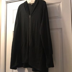 Long duster with thumb holes